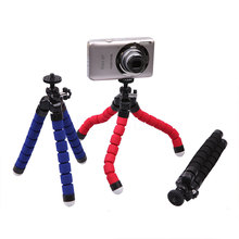 Universal Octopus Mini Tripod Flexible Supports Stand Spong For GOPRO Mobile Phones Cameras small lightweight and portable