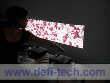 DefiLabs DEFI Triple screen Interactive floor system support 3 projectors including Edge Blending setting 16 effects
