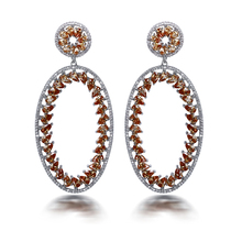 Ethnic Style Women Big Earring Made with  AAA Cubic Zirconia Higher Quality Party Earrings Allergy Free Lead Free