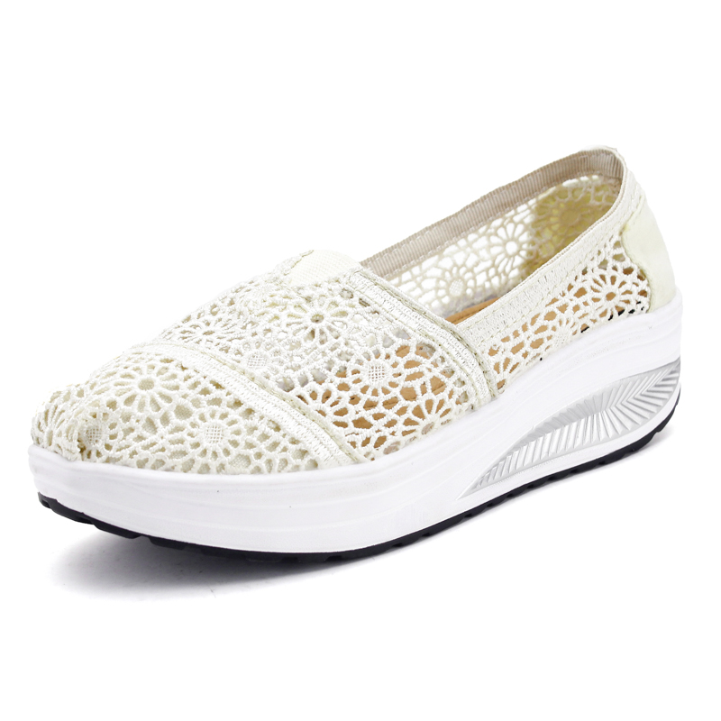 Summer Ladies Casual Shoes Breathable Soft Wedgess Height Increasing Women Shoes Outdoor Spring Autumn Mujer  Walking Shoes<br><br>Aliexpress