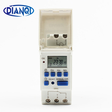 DIGITAL PROGRAMMABLE Timer TIME RELAY Microcomputer Electronic Digital TIMER SWITCH Relay Control 24V Din Rail Mount tp8a16(China)