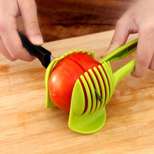 Creative Functional Plastic Tomato Potato Slicer Fruits Cutter Stand Kitchen Assistant Tools Lounged Lemon Shreadders