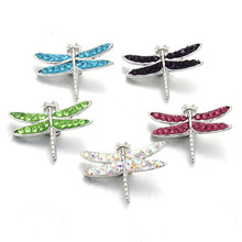 Buy 10pcs/lot Mix Snap Jewelry Buttons Rhinestone 18mm Snap Buttons Fit 18mm Snap Bracelets Women Dragonfly button jewelry 020308 for $3.38 in AliExpress store