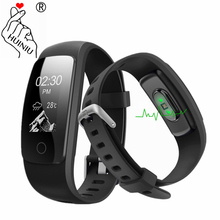 ID107 HR Plus GPS Smart Bracelet Heart Rate Monitor Pedometer Band Bluetooth Fitness Activity Sports Tracker Wristband For Phone(China)