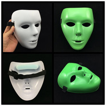 Jabbawockeez Hiphop Mask Halloween Cosplay Costume Party mask white luminous