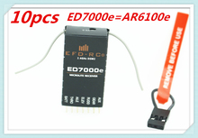 10pcs/lot ED7000e AR6100E 2.4GHz 6 channel 6CH RC Receiver Support DSX7DX6i/DX7/DX8 of Helicopters,micro aircraft,Quadcopter(China)