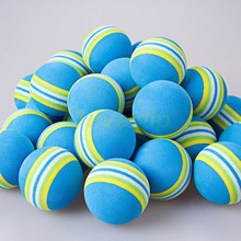 Free Shipping 100pcs/bag Blue Rainbow EVA Foam Golf Balls Sponge Indoor Outdoor Practice Training Aid Swing Backyard(China)