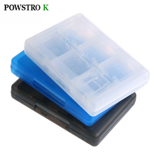 POWSTRO K 28 in 1 Protective Game Card Holder Cartridge Anti Dust Memory Card Case Box For Nintendo DS DS Lite 3DS 3DS XL LL