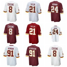 Men's Josh Norman Sean Taylor Kirk Cousins shirts jerseys(China)