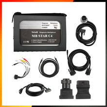 New OBD2 scanner MB STAR C4 for Mercedes Benz cars and trucks with Xentry 2015.07 Version software hdd 12/24v MB STAR C3