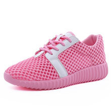 Women's Summer Running Shoes Pink Black White Color Breathable Mesh Sneakers Women Platform Shoes Zapatillas Deportivas Mujer(China)