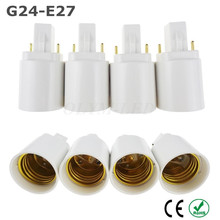 Buy 5X White ABS LED G24 E27 Adapter Socket Halogen CFL Light Lamp base converter adapter g24 bulb holder adapter 2pin 85-265V for $4.20 in AliExpress store