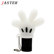 JASTER lovely cartoon palm usb flash drive cartoon pendrive 8gb 16gb 32gb memory stick USB 2.0 Gift beauty pendant