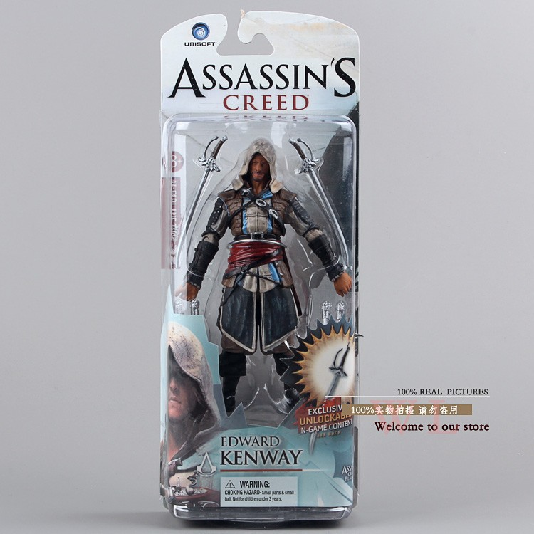 Free Shipping Assassins Creed 4:Black Flag 14cm Edward Kenway PVC Action Figure Toys For Boys Gifts<br><br>Aliexpress