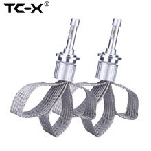 TC-X D2S D4S LED Headlights Clear Curve for BMW model HID Replace Car Lights Conversion Kit with Flexible Tinned Copper Braid
