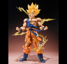 Free Shipping! New Dragon ball z figure bandai Super Saiyan Goku PVC Action Figure Model Collection Toy Gift vegeta dragonball z