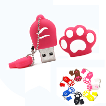 128GB USB flash Drive 4GB 8gb 16gb Cat paw Pen drive Cartoon pendrive 32GB USB Stick Flash Drive 64GB USB Flash Key Chain