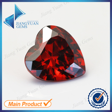 50Pcs Heart Shape 5A Garnet Color Cubic Zirconia Stone Size 3x3-15x15mm Synthetic Gems Beads Crystal Stone For Jewelry(China)