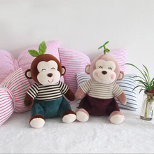 Hot !1Pcs 30cm Cute New Style Stuffed Germination Monkey Leaves Monkey Animals Dolls Soft Plush Toys Baby Loved Gifts Toys(China)