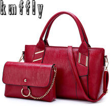 KMFFLY 2Sets wool Composite Bag Women Handbags Crossbody Bags Luxury Designer New Sac Femme - Kmffly bags franchise Shop Store store