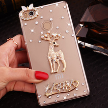 2017 Superior Quality Luxury Diamond Cell Phone Case Shell for Xiaomi Redmi 4 Cute Cartoon Pattern Smart Phone Case for Redmi 4