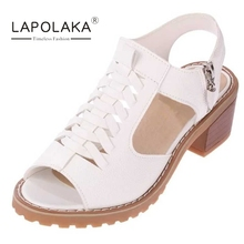 Lapolaka Rome Gladiator Women Summer Shoes Vintage High Heel Open Toe Less Platform Sandals For Woman Ladies  Footwear