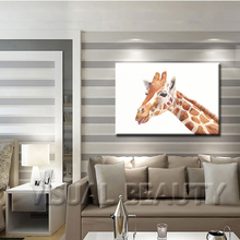 FREE SHIPPING Factory Wholesale Giraffe Painting Animal Canvas Arts Print in Canvas(Unframed)60x90cm
