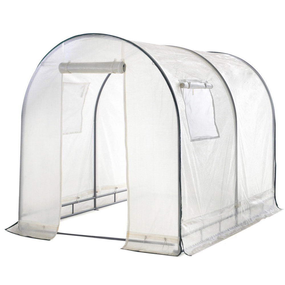 Abba Patio Walk In 8u0027L X 6u0027W X 6.6u0027H Greenhouse Fully Enclosed Lawn And  Garden Portable Outdoor Tent With Windows White