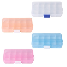 10 grid Plastic Jewelry Beads Storage Box Case Organizer Container traveling storage Case Home Storage Make-up Table Box(China)