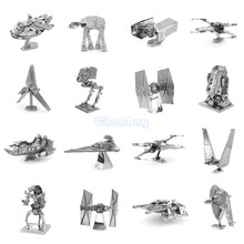 3D Metal Puzzle of Star Wars Assemble Miniature 3D Building Model Kits From Laser Cut Metal Sheets for Kids Educational Toys