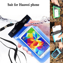 1pcs 5.5 inches Outdoor travel swim dive submersible Waterproof Bag Phone Case For Huawei P10 P8 P9 Lite Nova Magic Honor 8 lite