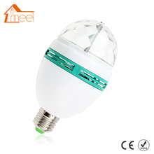 3W AC85-265V New Colourful RGB Led Spotlight Auto Rotating Stage Light For Holiday KTV Bar Disco Party Led Bulb Lamp(China)