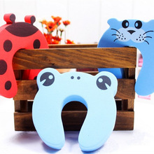 Pack of 10pcs Child Safety Cartoon Door Card Baby Door Stopper Clip Baby Safety