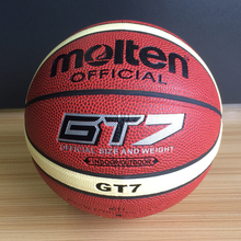 Hot Sale Man Basketball Molten GT7 Basketball Offical Size7 PU Leather Indoor Outdoor Sport Basketball GT7 With Net Bag Needle(China)
