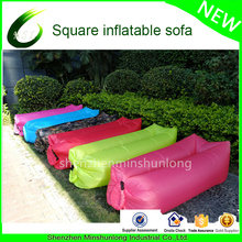 Outdoor or Indoor 2017 Newest air Sofa Air Bag Bean Bag Ripstop Nylon Inflatable lounger Sleeping Bag lazy bag pool float ships