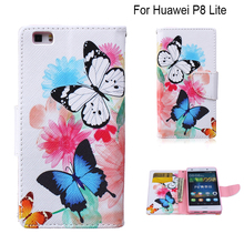 for fundas Huawei P8 Lite Case Phone Wallet Case for coque Huawei Ascend P8 Lite / P8 mini Flip Case + Stand Card Holder(China)