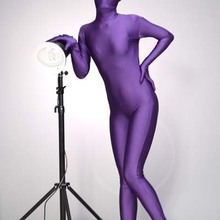 d8bf1fc3a06e Free shipping Purple Lycra Spandex Zentai Full Bodysuit 2nd Skin Suit Stage  Performance costume(China
