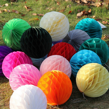 Multi Size 10/15/20/25/30cm Decorative Tissue Paper Lantern Honeycomb Ball For Wedding Decorations Birthday Party Decorations