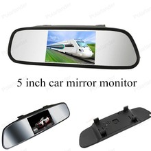 car monitor small display 5 inch TFTdigital lcd for universal vehicle reversing parking assistance backup rear view camera
