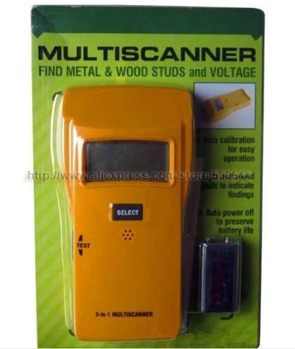 3 in 1 Multiscanner Stud AC Wires Metal Detector Voltage Metal Sensor &amp; 10PCS/Lot DHL/UPS/FEDEX/EMS Free Shipping<br>