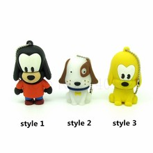 cartoon white yellow pet dog usb flash drive disk memory stick pendrive cute Pen drive personalized mini gift 4gb 8gb 16gb 32gb(China)
