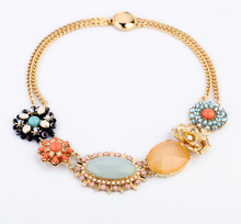 Free shipping Discount 2017 new fashion jewelry style accessories punk luxury gem rustic all-match acrylic short necklace women
