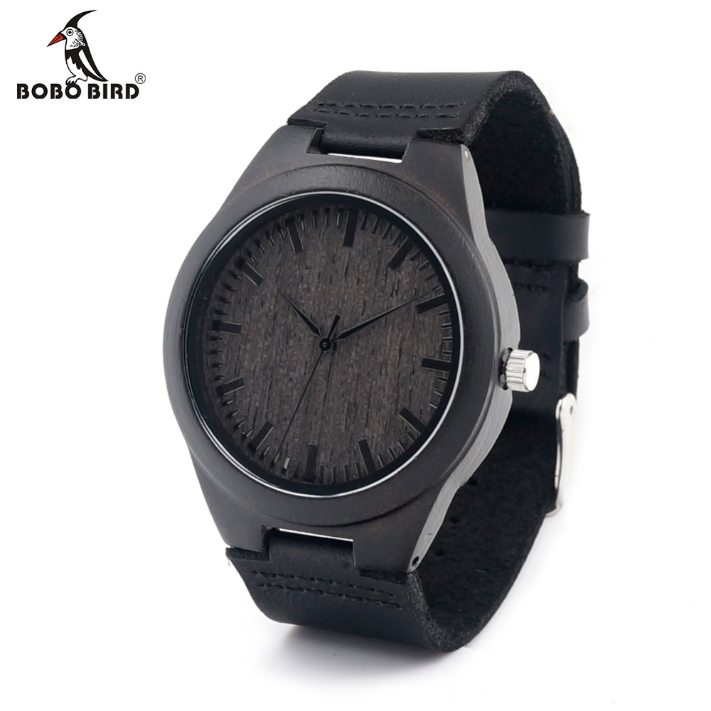 BOBOBIRD Limited Edition Bamboo Wooden Watches Mens Luxury Brand Designer Watch Leather Band Quartz Watches for Men In Gift Box<br><br>Aliexpress