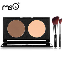 MSQ Pro 2 Color Face Shading Pressed Powder Contour Bronzer Highlighter Palette Set Trimming Powder Eyeshadow Makeup Contour(China)