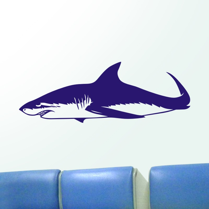 DCTAL Shark Wall Sticker Requin Decal Tiburon Posters Vinyl Wall Art Decals Pegatina Car Decal Decor Mural Animal Sticker