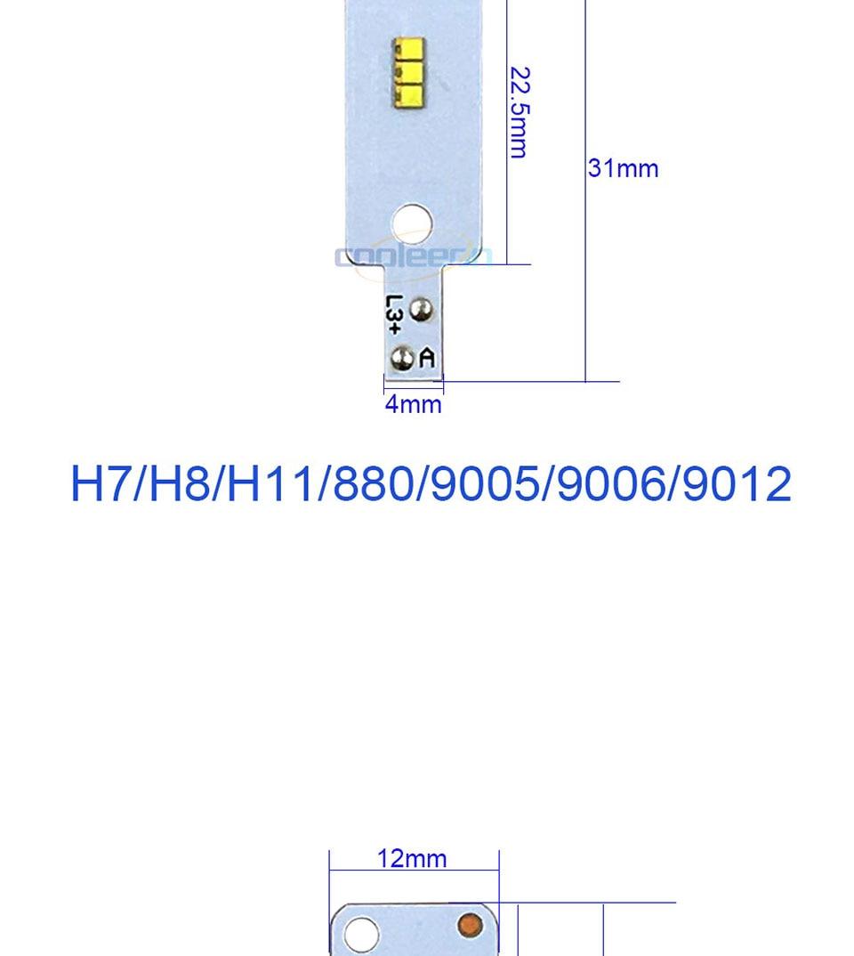 ZES COB LED Chip for X3 Car Headlight Bulbs H1 H3 H4 H7 9005 9006 880 H13 9004 9007 Auto Headlamp Light Source X3 ZES Chip (3)