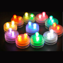 12 units/lot Christmas Decoration Birthday Decorations Kids Wedding Invitations Submersible Led Tea Lights- Centerpiece Lighting