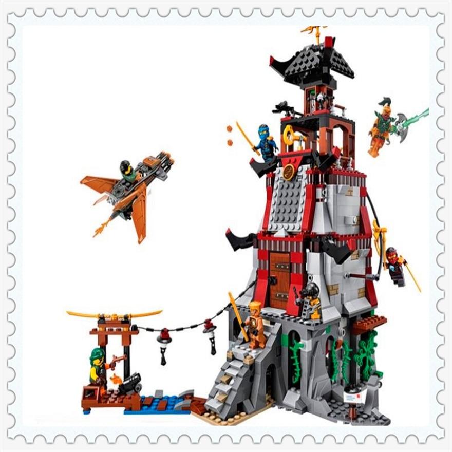 815Pcs Ninja Castle Lighthouse Siege Model Building Block Toys Enlighten 10528 Gift For Children Compatible Legoe 70594<br>