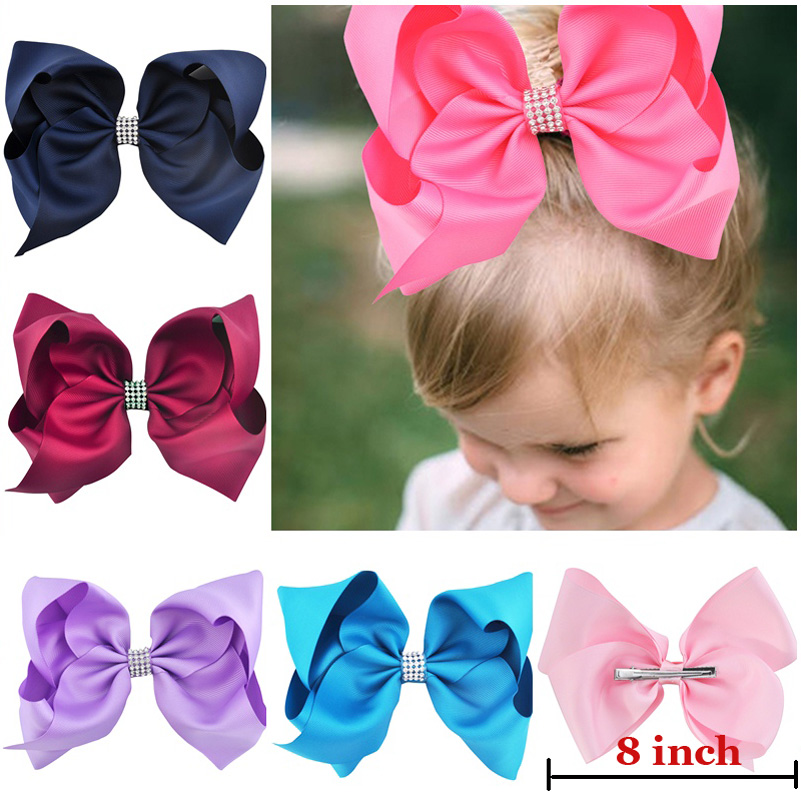 8 inch Big Bows Hairstyle Hair Hoop Head Band for Girls Women Hot Pink