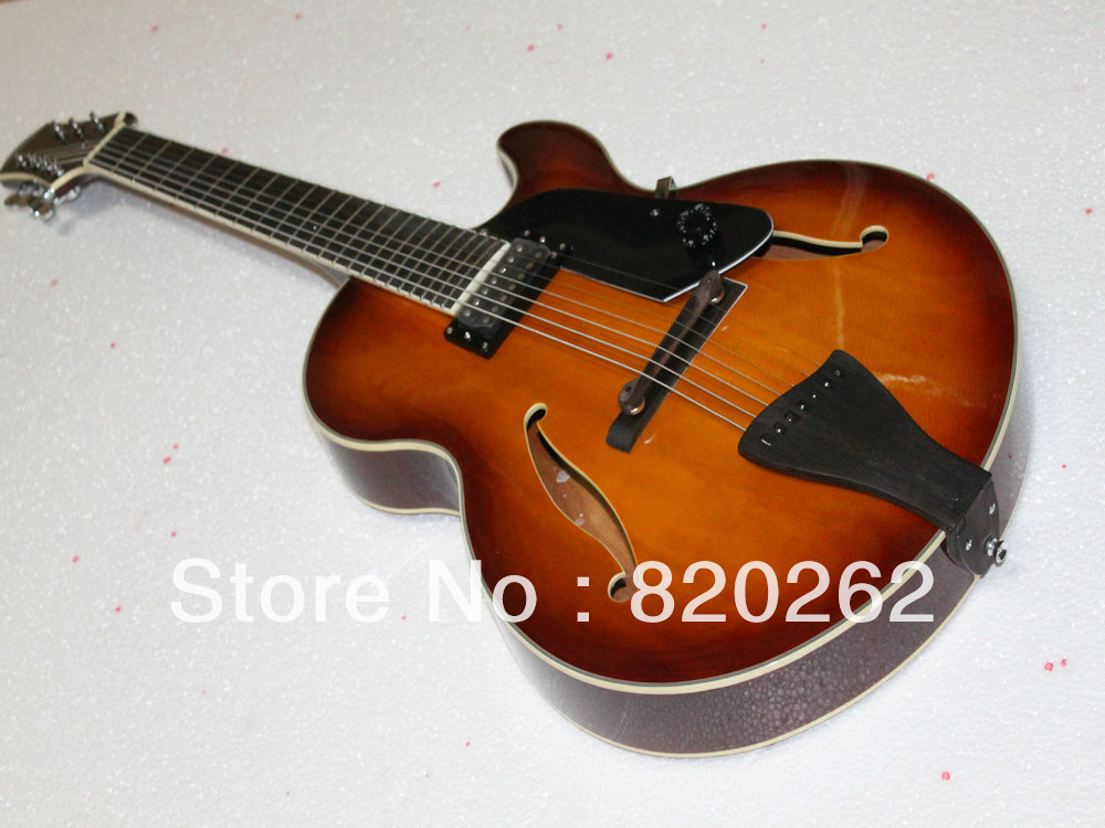 New Arrival 7 Strings Jazz Guitar Honey Burst Best Musical instruments Free Shipping(China (Mainland))